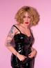 Miss Kitty Maneater Top in Black Vinyl (M and L ONLY)