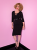 PRE ORDER Miss Kitty Wiggle Dress in Black (S, M and 2XL ONLY)