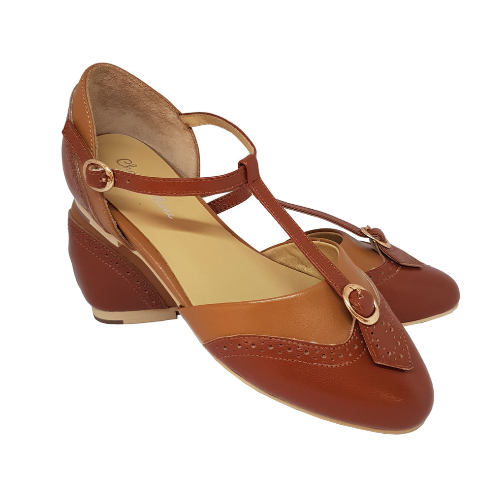 Charlie Stone Parisienne Shoes - Brown Combo