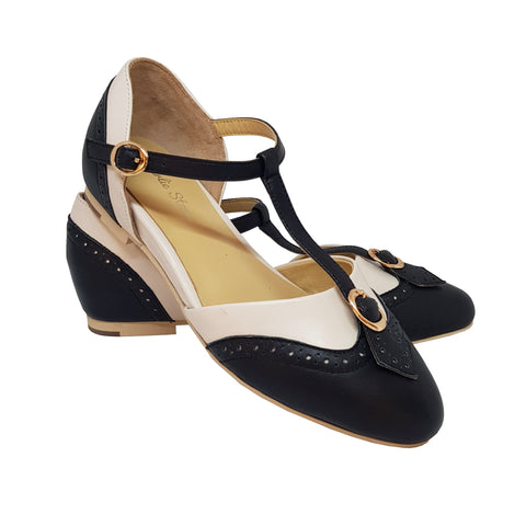 Charlie Stone Parisienne Shoes - Black/Ivory