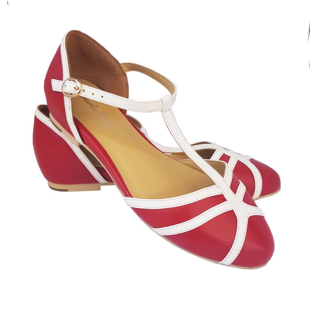 Charlie Stone Portofino Shoes - Red/White