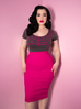 Vixen Pencil Skirt in Hot Pink Bengaline - Natasha Marie Clothing