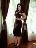 Vamp Pencil Skirt in Black with Lining - Natasha Marie Clothing