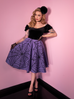 PRE ORDER Widow Spiderweb Circle Skirt in Periwinkle - Natasha Marie Clothing