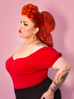 PRE ORDER Powder Puff Top in Red - Natasha Marie Clothing