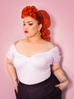 PRE ORDER Powder Puff Top in White (4XL IN STOCK) - Natasha Marie Clothing