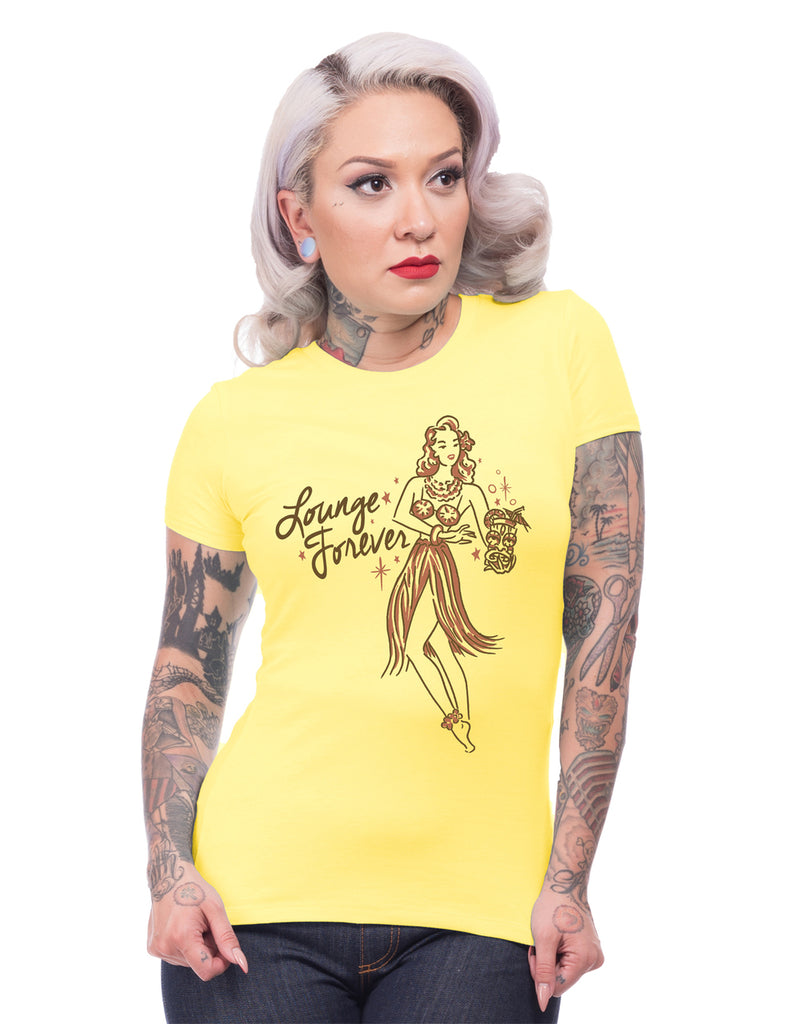 Lounge Forever Tee in Yellow (S, M and L ONLY)