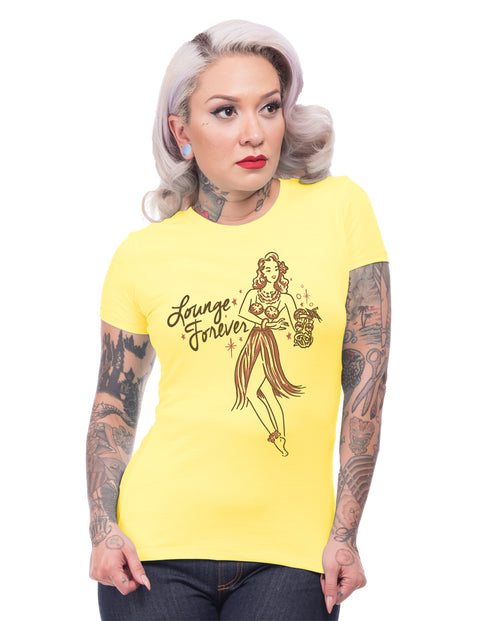 Lounge Forever Tee in Yellow