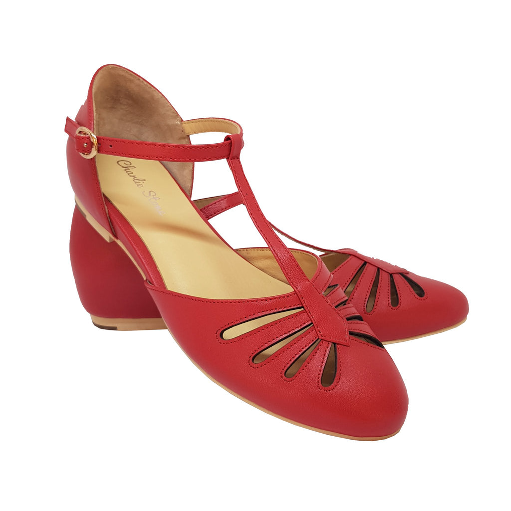 Charlie Stone Singapore Shoes - Red