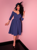 Starlet Swing Dress in Stormy Blue (3XL ONLY)