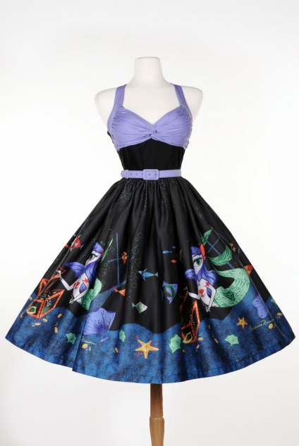 Lydia Dress Mermaid Print