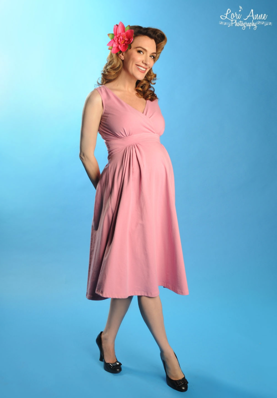 Preggers Scrumptious Dress Mauve Pink (IN STOCK) Phone order only!