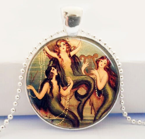 Sirens of the Sea Glass Pendant Necklace
