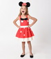 Kids Red & Ivory Dotted Dress (2T ONLY)