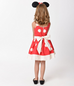 Kids Red & Ivory Dotted Dress