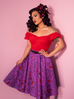 PRE ORDER Vixen Circle Skirt in Sea Siren Print - Natasha Marie Clothing