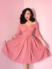 Starlet Swing Dress in Rose Pink