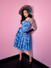 Sweetheart Circle Dress in Blue Roses (XS, M and 4XL ONLY) - Natasha Marie Clothing