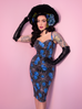 Sweetheart Wiggle Dress in Blue Spiderweb (XS and 4XL ONLY) - Natasha Marie Clothing