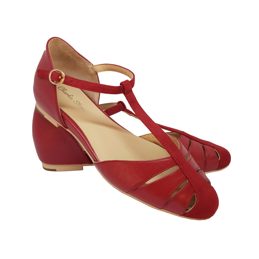 Charlie Stone Toscana Shoes - Blood Red