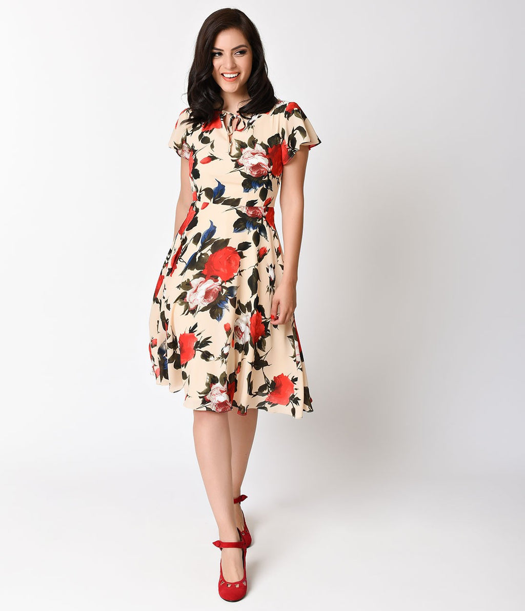 Formosa Dress in Cream Floral