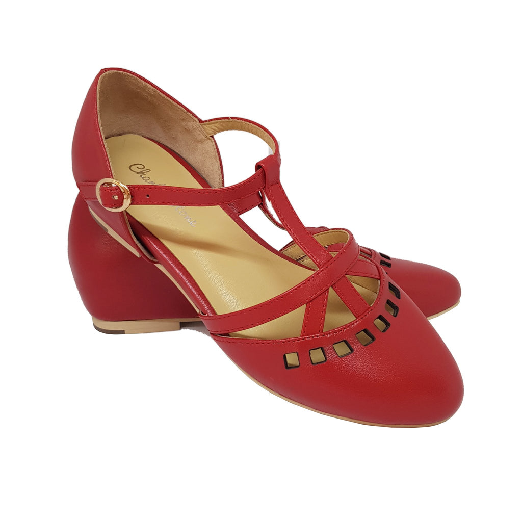 Charlie Stone Valentina Shoes - Red - Natasha Marie Clothing