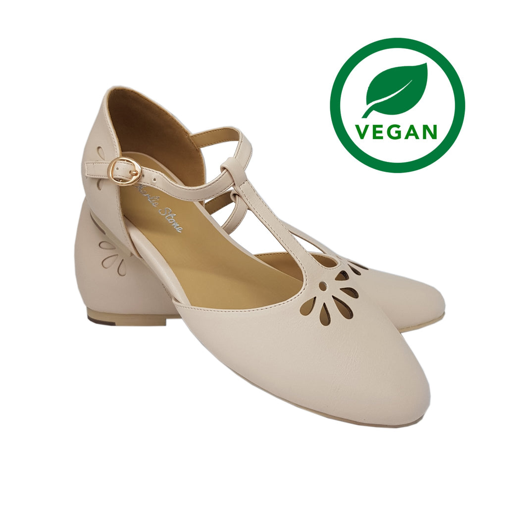 Charlie Stone Verona Shoes - Cream - Natasha Marie Clothing