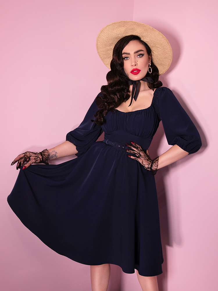 Vacation Dress in Navy Blue (XS & M ONLY) - Natasha Marie Clothing