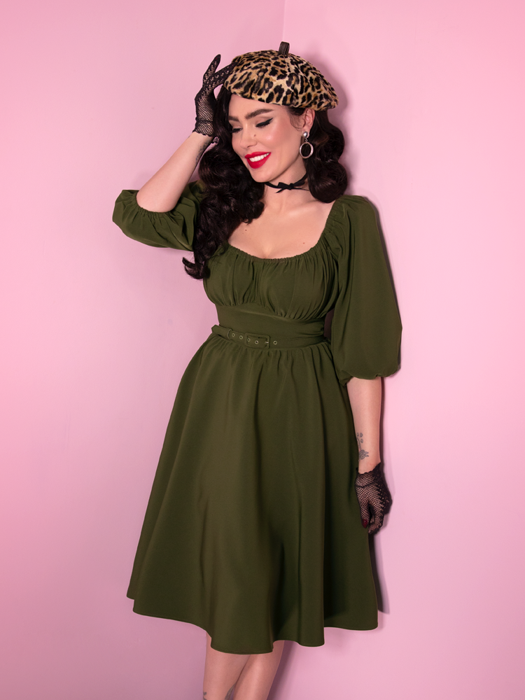 Vacation Dress in Olive Green (2XL ONLY) - Natasha Marie Clothing