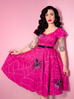 PRE ORDER Vanity Fair Dress in Pinky Spider Print - Mean Girls Club x Vixen