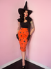 Ben Cooper Vintage Halloween Print Pencil Skirt (XS, S, M and 3XL ONLY) - Natasha Marie Clothing