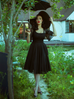 Wicked Web Circle Skirt (S and 3XL ONLY) - Natasha Marie Clothing