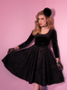 PRE ORDER Widow Spiderweb Circle Skirt in Black - Natasha Marie Clothing