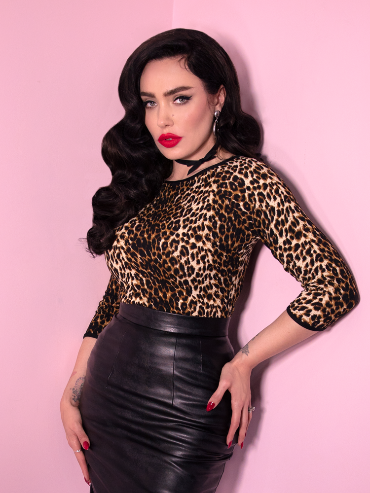 Wild Ways Top in Vintage Leopard Print (XS and 4XL)