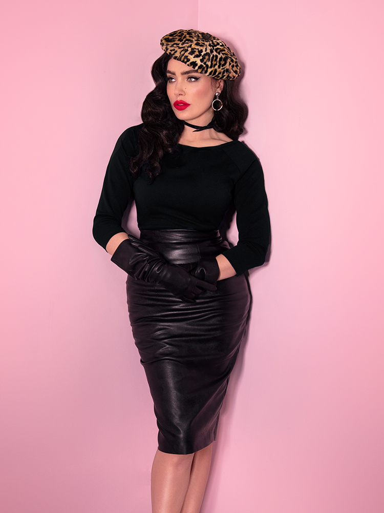 Bad Girl Vegan Pencil Skirt (XL, 2XL & 4XL ONLY) - Natasha Marie Clothing