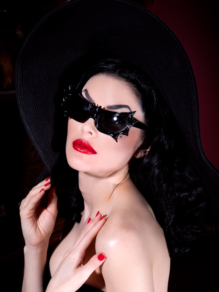 Bat Glasses - Vampira® by La Femme en Noir - Black