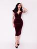 PRE ORDER Baudelaire Dress in Oxblood Velvet