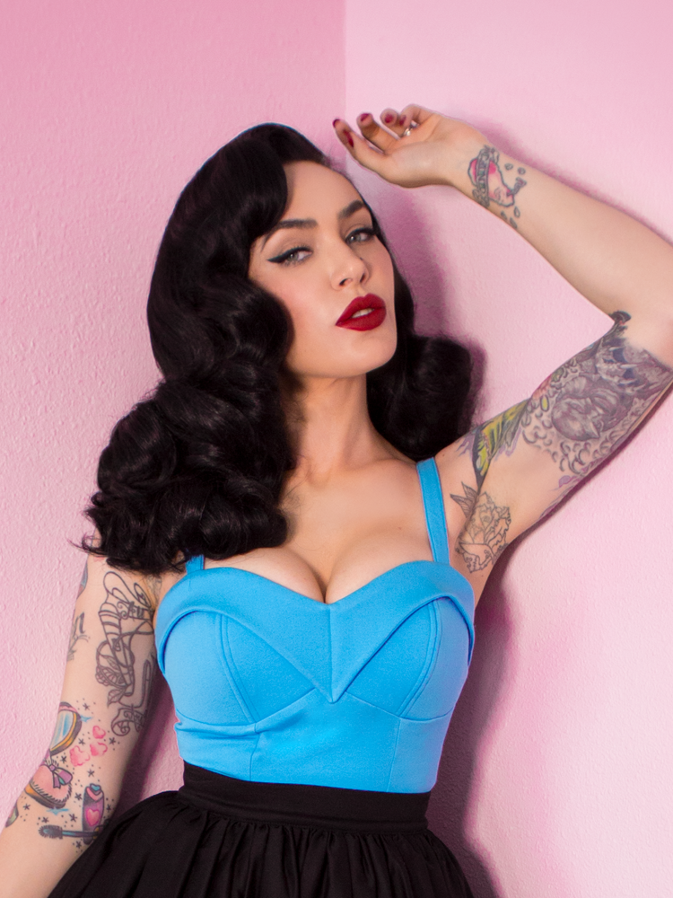 Maneater Top in Light Blue