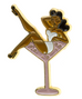 PRE ORDER Martini Girl Lapel Pin Brown