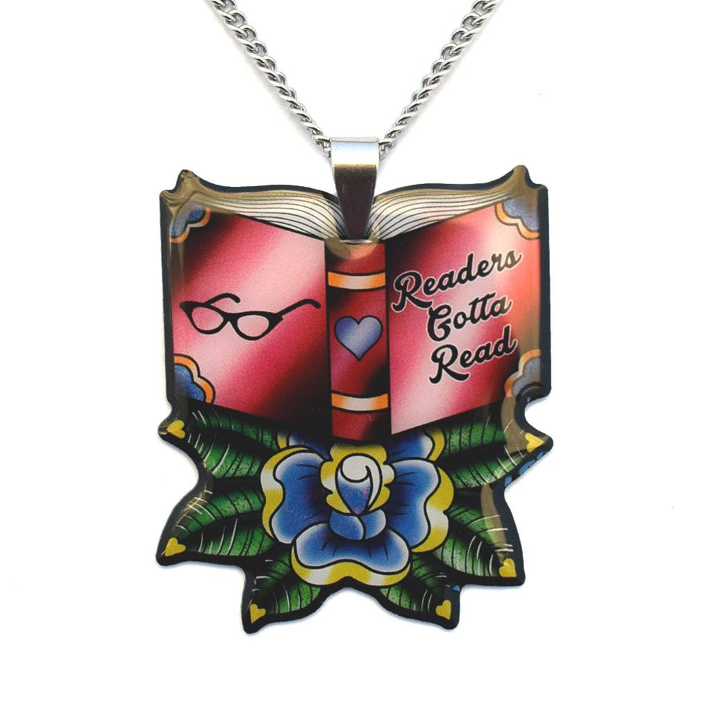 'Readers Gotta Read' Book Pendant