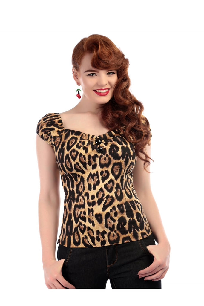 Dolores Top in Feral Print (XS ONLY) - Natasha Marie Clothing