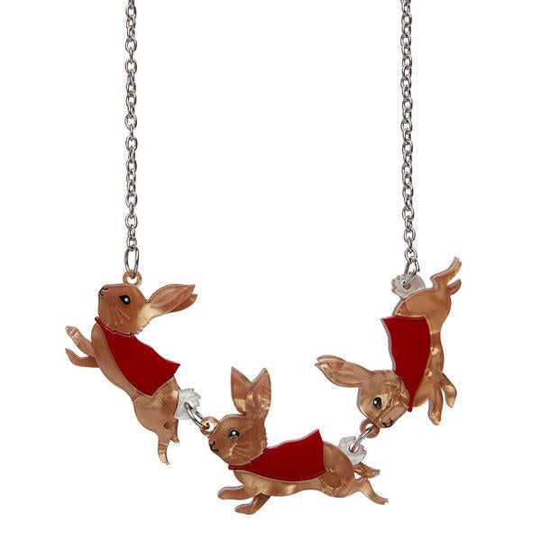Flopsy, Mopsy & Cottontail Necklace - Natasha Marie Clothing
