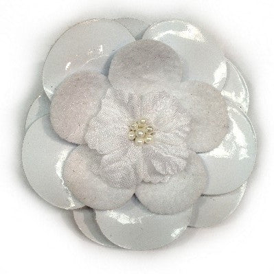 White Material Hair Clip Flower/Brooch