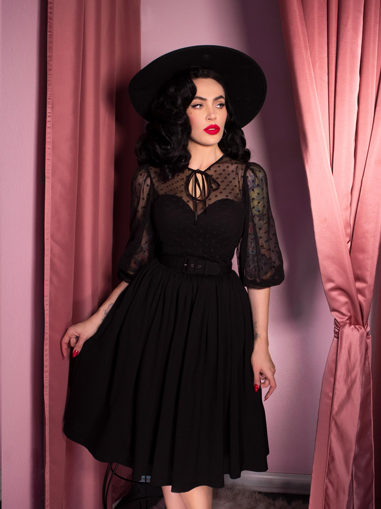 Frenchie Swing Dress in Black