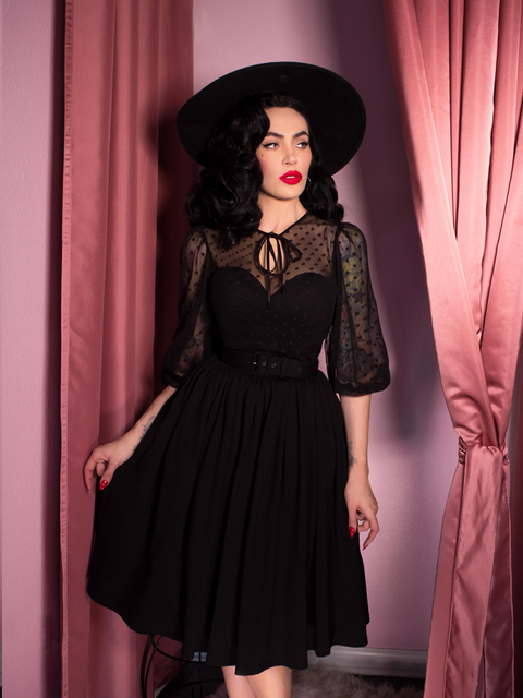 Frenchie Swing Dress in Black (XS AND S ONLY)