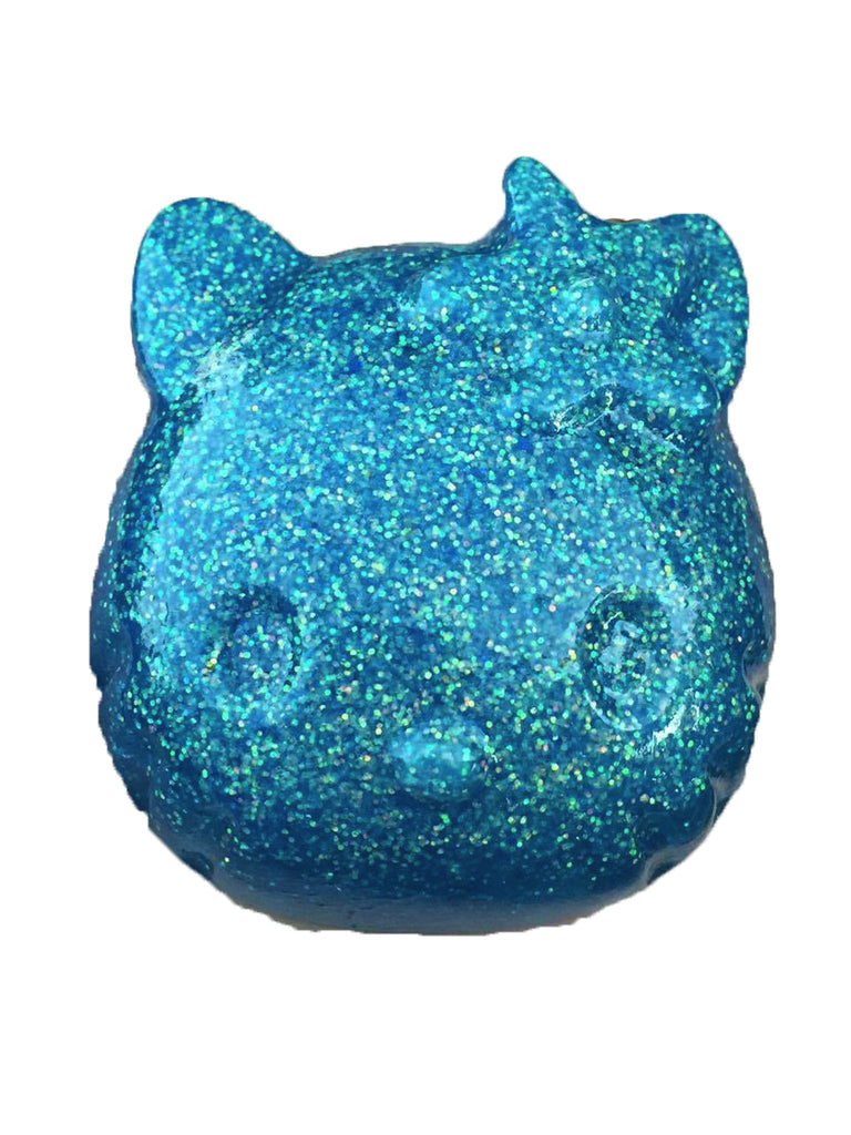 Hello Kitty Paperweight in Blue w/ White Glitter