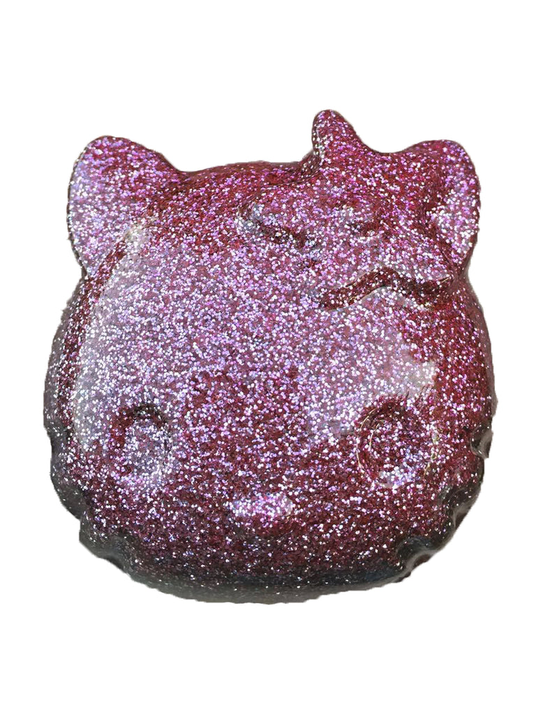 Hello Kitty Paperweight in Orchid Glitter Bomb