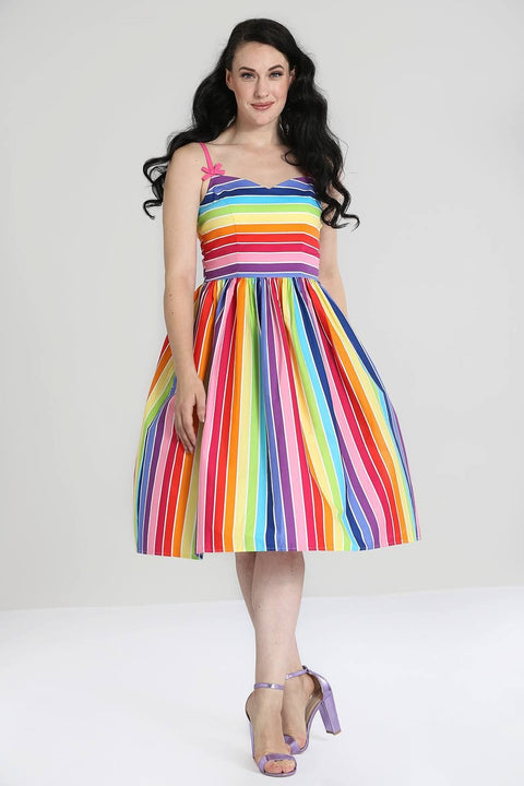 Over the Rainbow 50s Dress (2XL and 3XL ONLY)