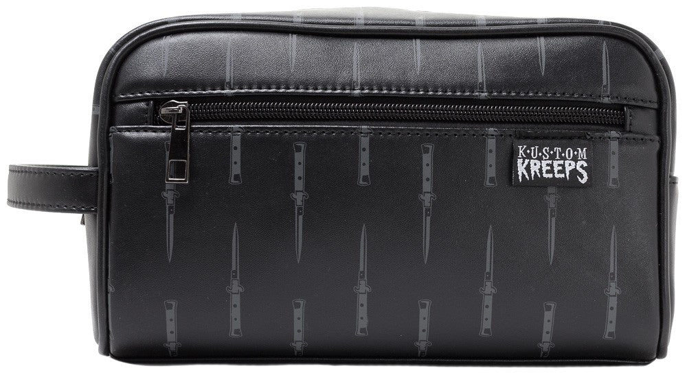 Black Switchblades Toiletry Bag