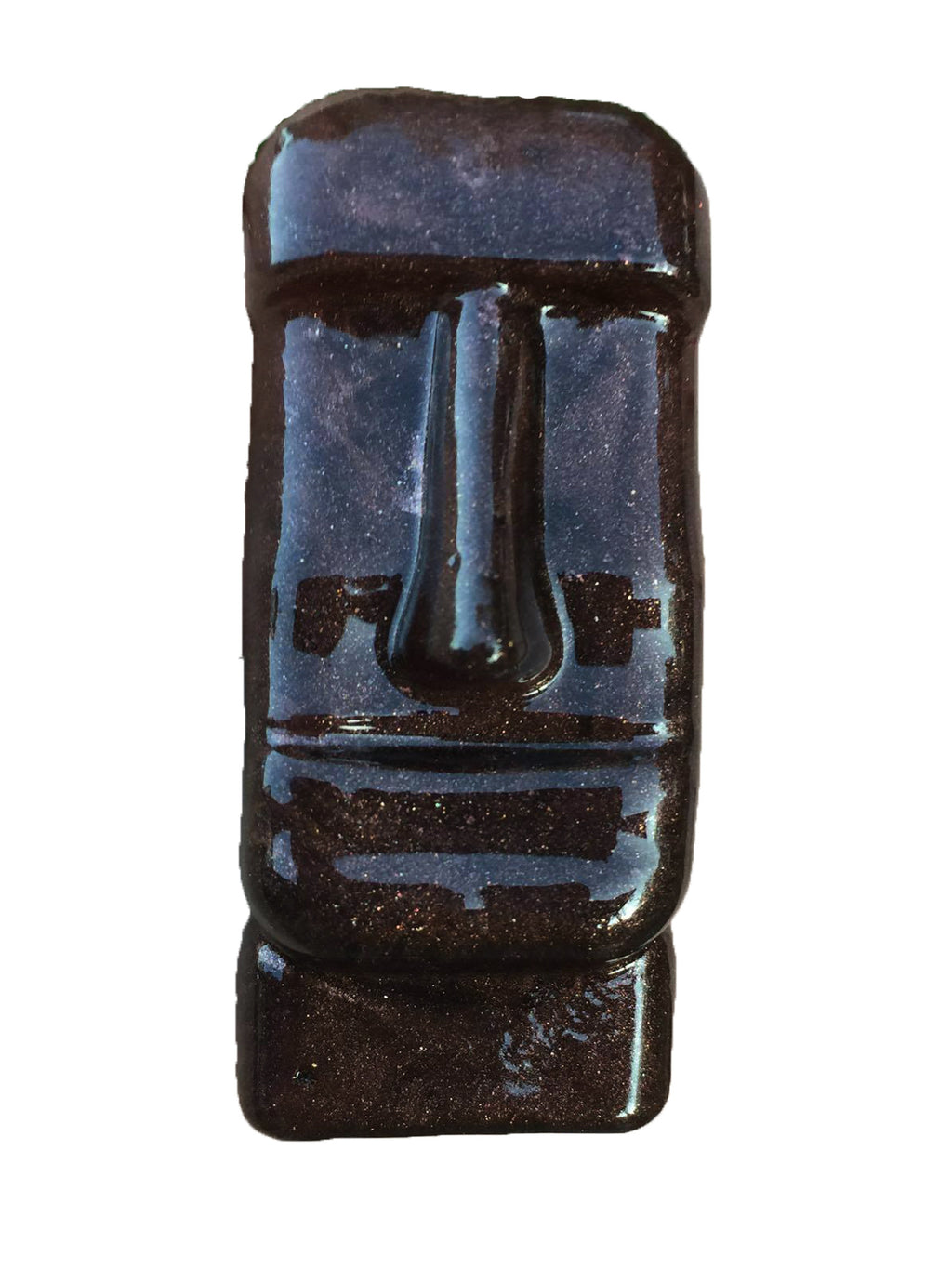Moai Statue Brooch in Hickory Shimmer - Natasha Marie Clothing